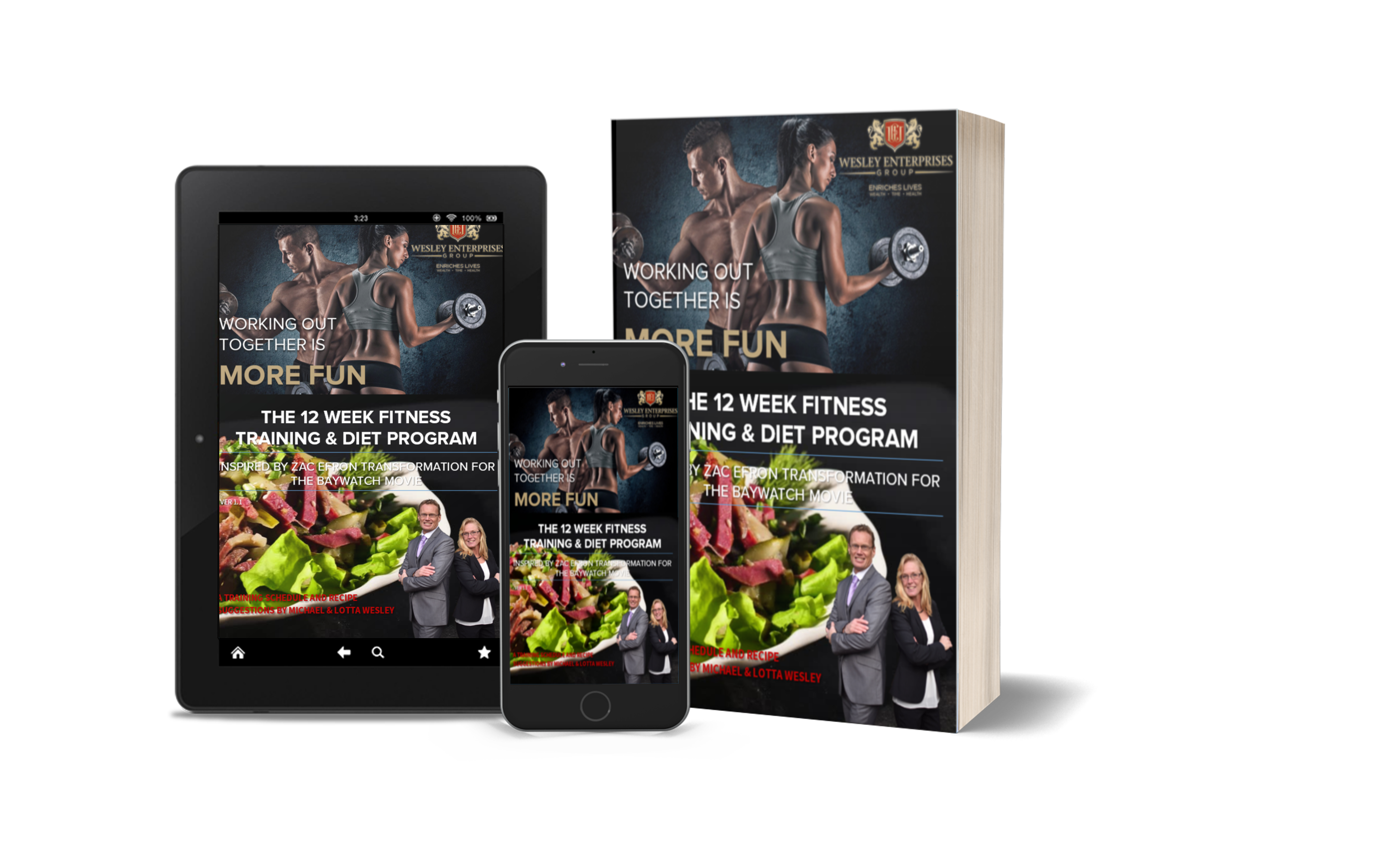 Get the FREE e-book: The 12 weeks fitness training & diet program by Wesley Enterprises
